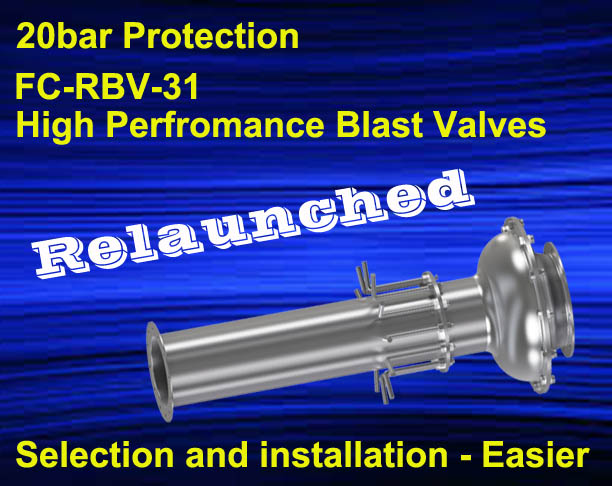FC-RBV-31 High Performance Blast Valve Line Relaunched